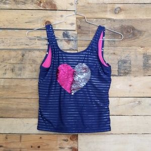 Justice Sequined Heart tankini
